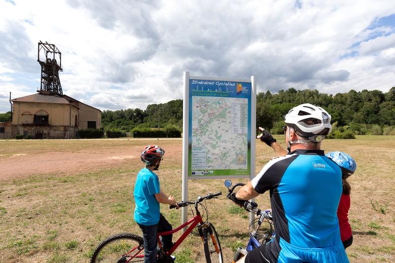 itinéraire du Charbon et de l'Acier sur 10km