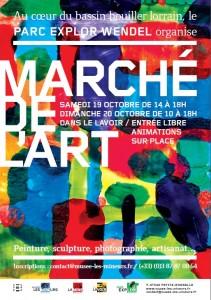 Affiche du marché de l'art 2019 Parc Explor Wendel